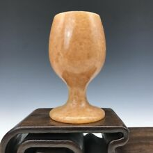China's ancient mi topaz hand carved jade cup