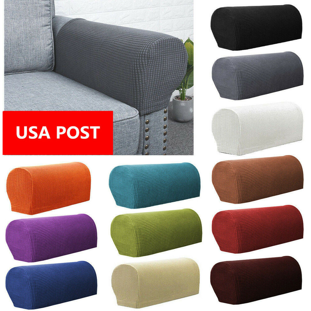 2x Premium Armrest Covers Stretchy Chair Sofa Couch Arm Protector