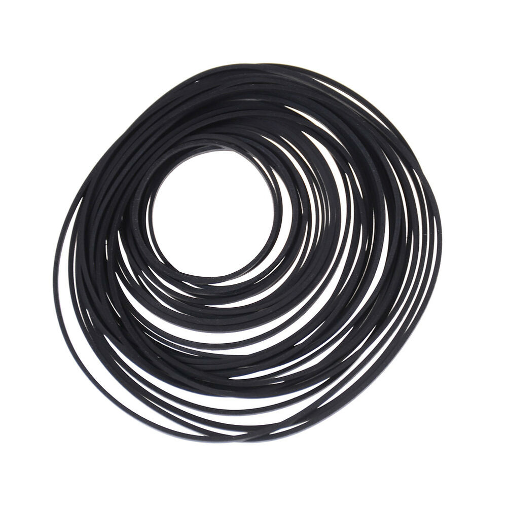 30-40pcs Small Fine Pulley Rubber Belt Engine Drive Belts For DIY Toys Model Car