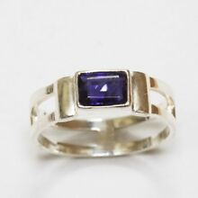 Sundance Catalog $78 Baguette-Cut Iolite Sterling Silver Ring Beautiful Chic