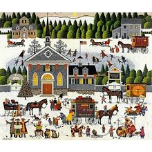 Charles Wysocki Churchyard Christmas Limited Edition S/N With Cert