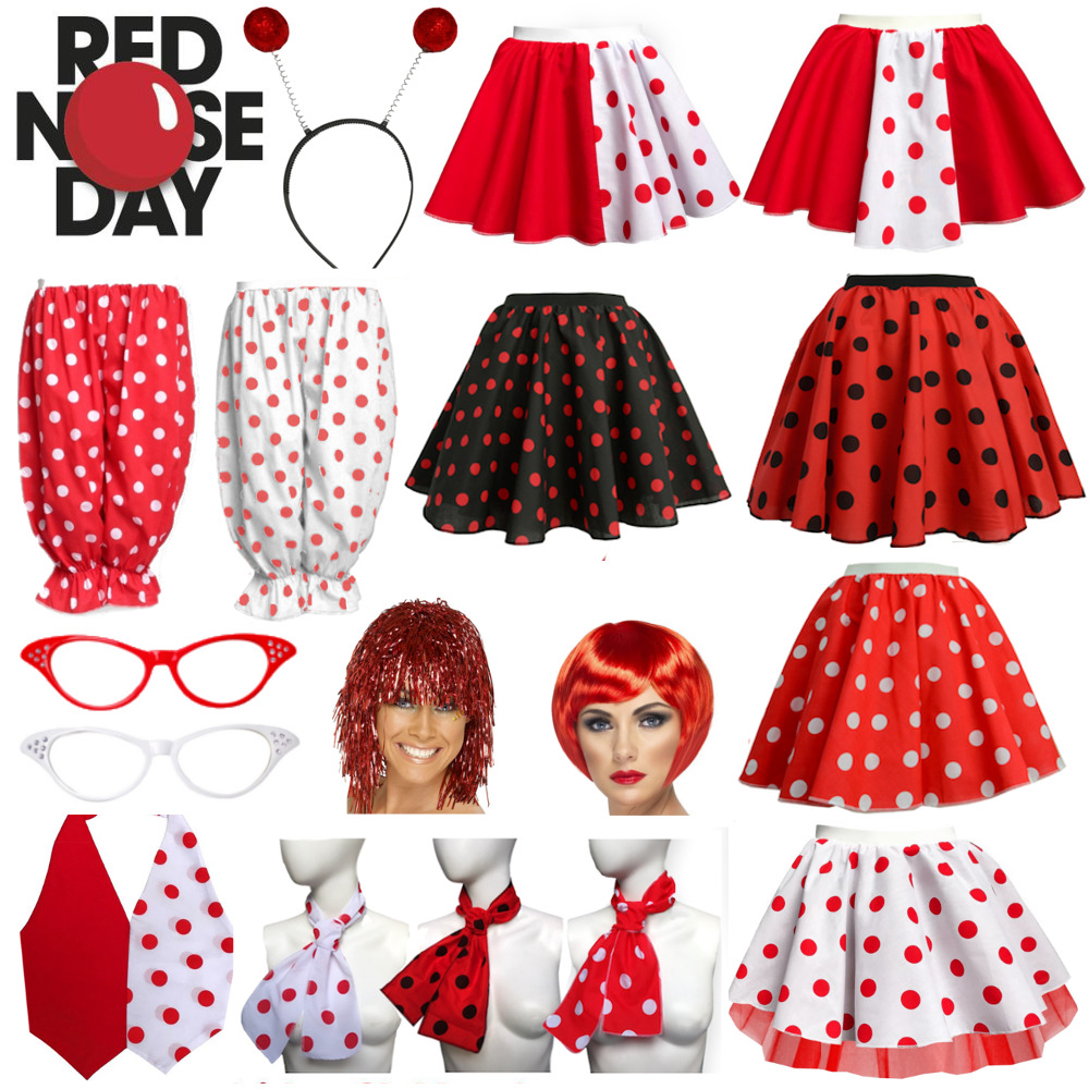 Free Comic Book Day 2019 List: Ladies Comic Relief RED NOSE DAY 2019 COSTUME Polka Dot