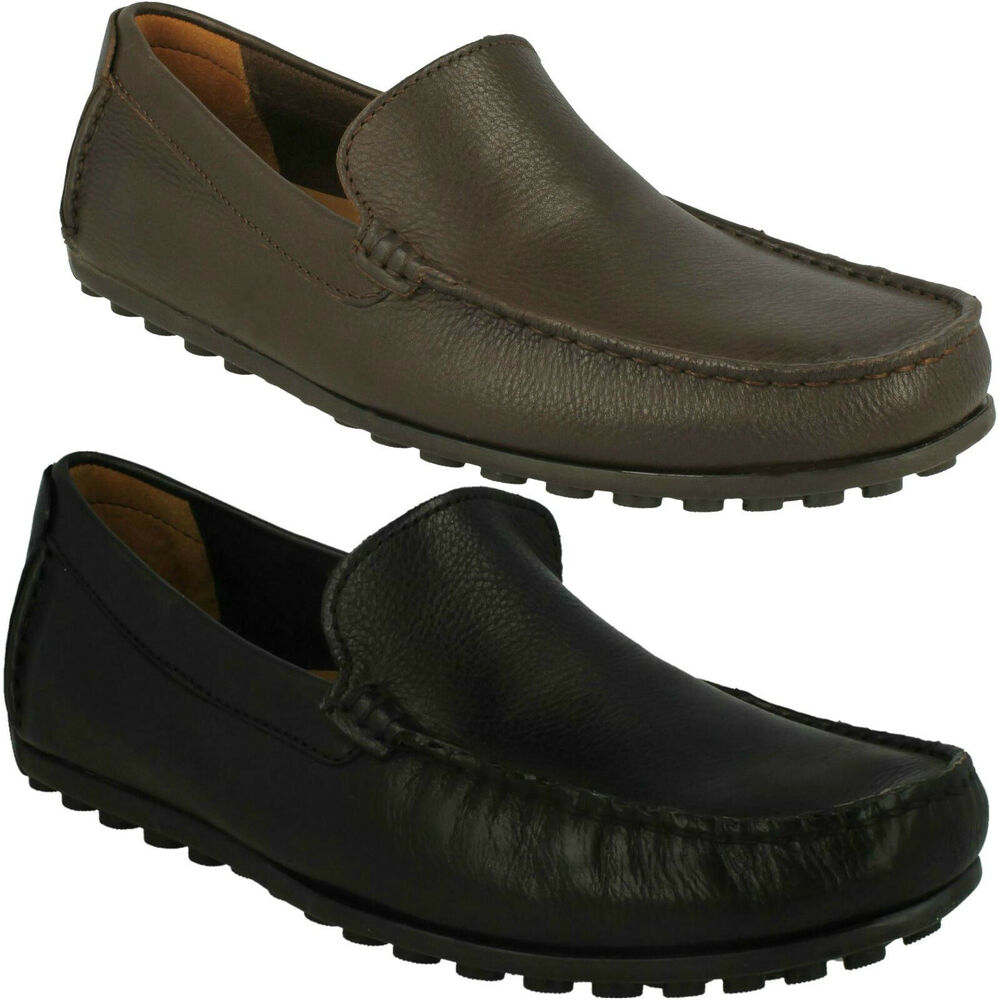 5e47a26e416 MENS CLARKS HAMILTON FREE SLIP ON CASUAL SOFT COMFORTABLE LOAFERS LEATHER  SHOES