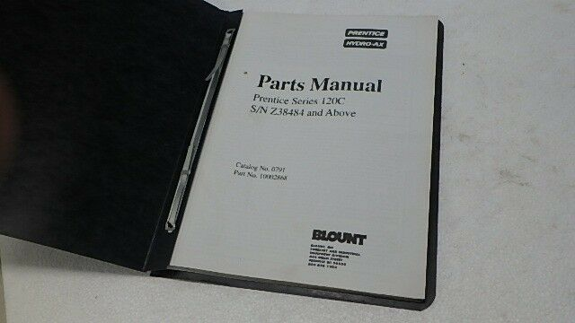 PRENTICE HYDRO-AX 120C PARTS MANUAL Ci279 | eBay