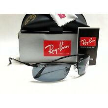 New Authentic RAY-BAN RB3183 002/81 Black/Grey Polarized Lens 63mm Sunglasses