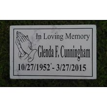 CUSTOM ENGRAVED GRANITE/MARBLE HEADSTONE GRAVE MARKER PLAQUE MEMORIAL PRAY 2