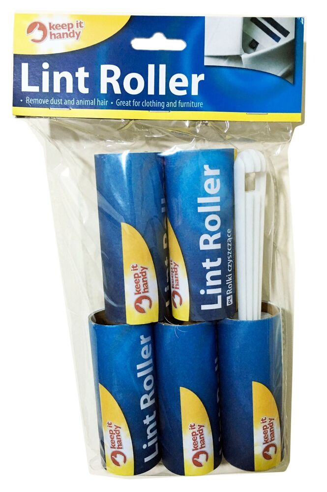 5 Rolls Lint Remover Roller Sticky Dust Fabric Brush Pet Hair