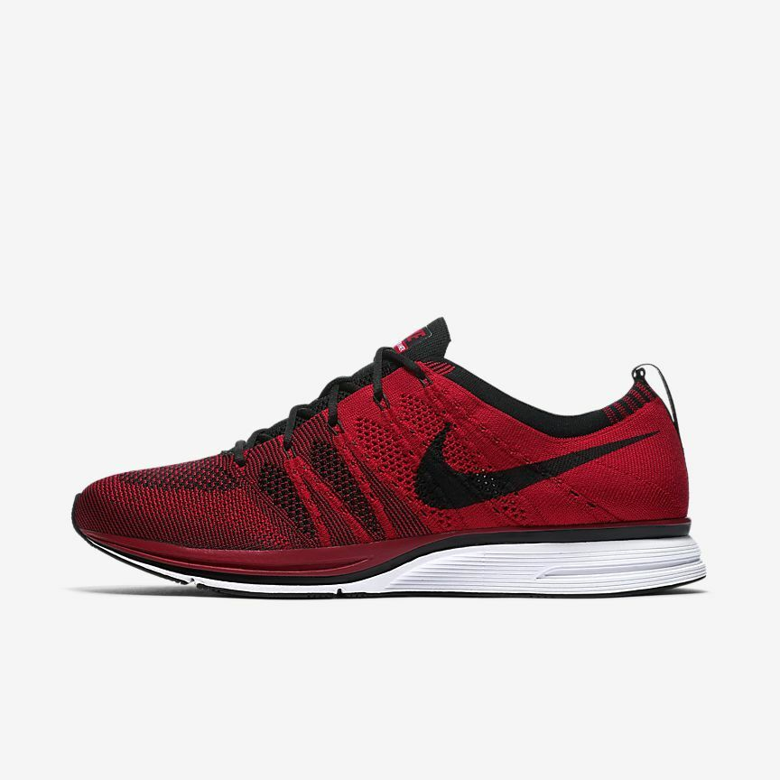 47b1e2cbbeecc Details about Nike Flyknit Trainer AH8396-601 University Red Black White  Men s Lifestyle Shoes
