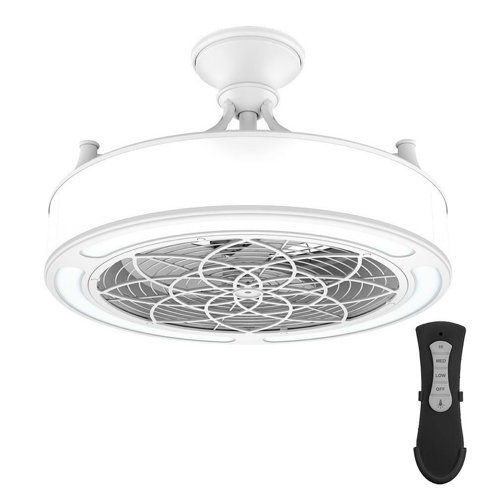 Anderson 22 In Led Indoor Outdoor White Ceiling Fan With