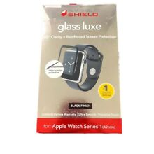 ZAGG Invisible Shield Glass Luxe for Apple Watch Series 1 42mm Black Finish IS46