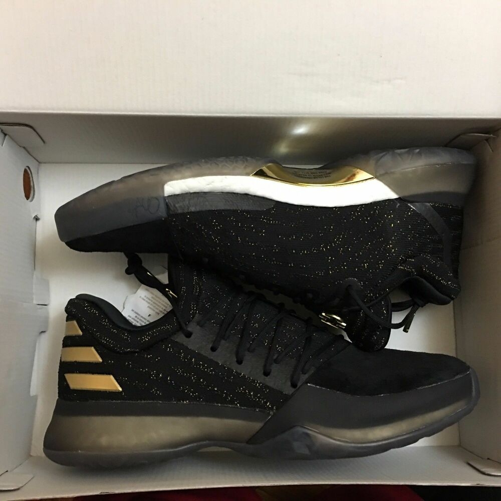 d4eb78fadc9c Details about adidas Harden Vol. 1 Imma Be a Star Primeknit Volume DS NEW  Boost Black Gold mvp