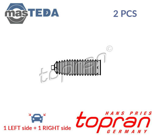 2x TOPRAN FRONT BELLOWS STEERING RACK BOOT PAIR SET 302 380 I NEW OE REPLACEMENT