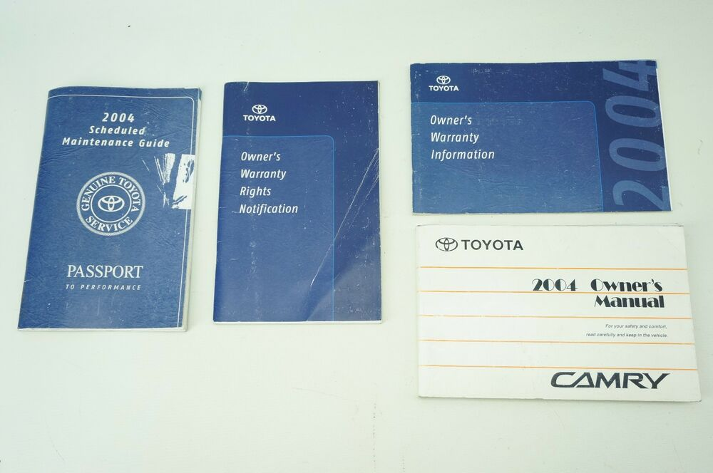 2002 toyota camry scheduled maintenance guide