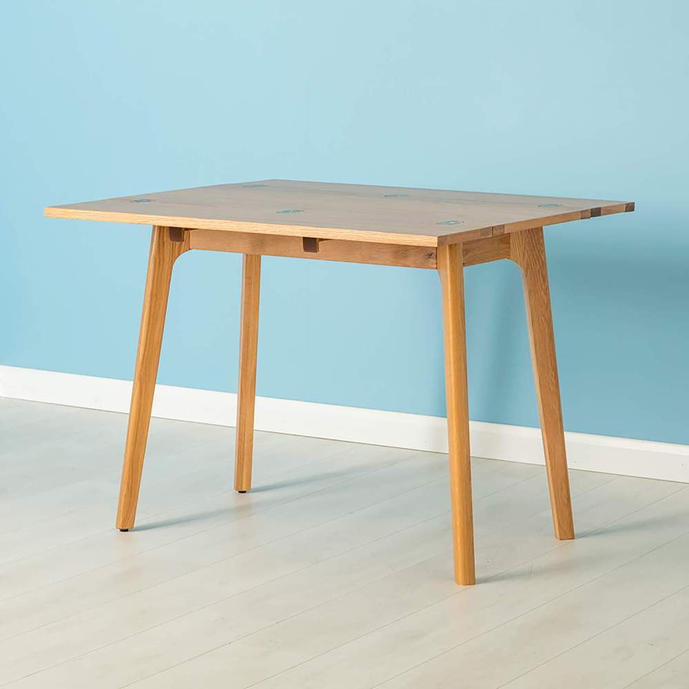 Details About Nordic Oak Folding Table Foldable Dining Compact Kitchen