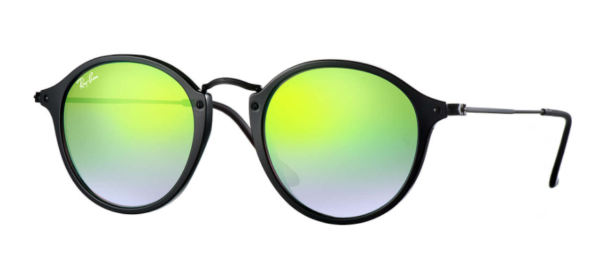 281164ab24 Details about Brand New Ray-Ban RB2447 901/4J Black / Green Mirrored  Sunglasses - 52mm