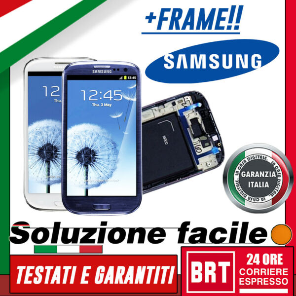 LCD+TOUCH SCREEN+FRAME PER SAMSUNG GALAXY S3 NEO I9301 I9308 DISPLAY VETRO_24H!!