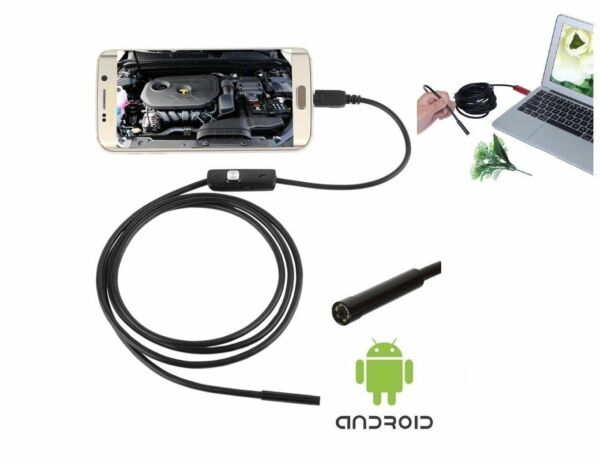 TELECAMERA ENDOSCOPICA USB SONda FLESSIBILE 5  10 Mt CAMERA LED X ANDROID