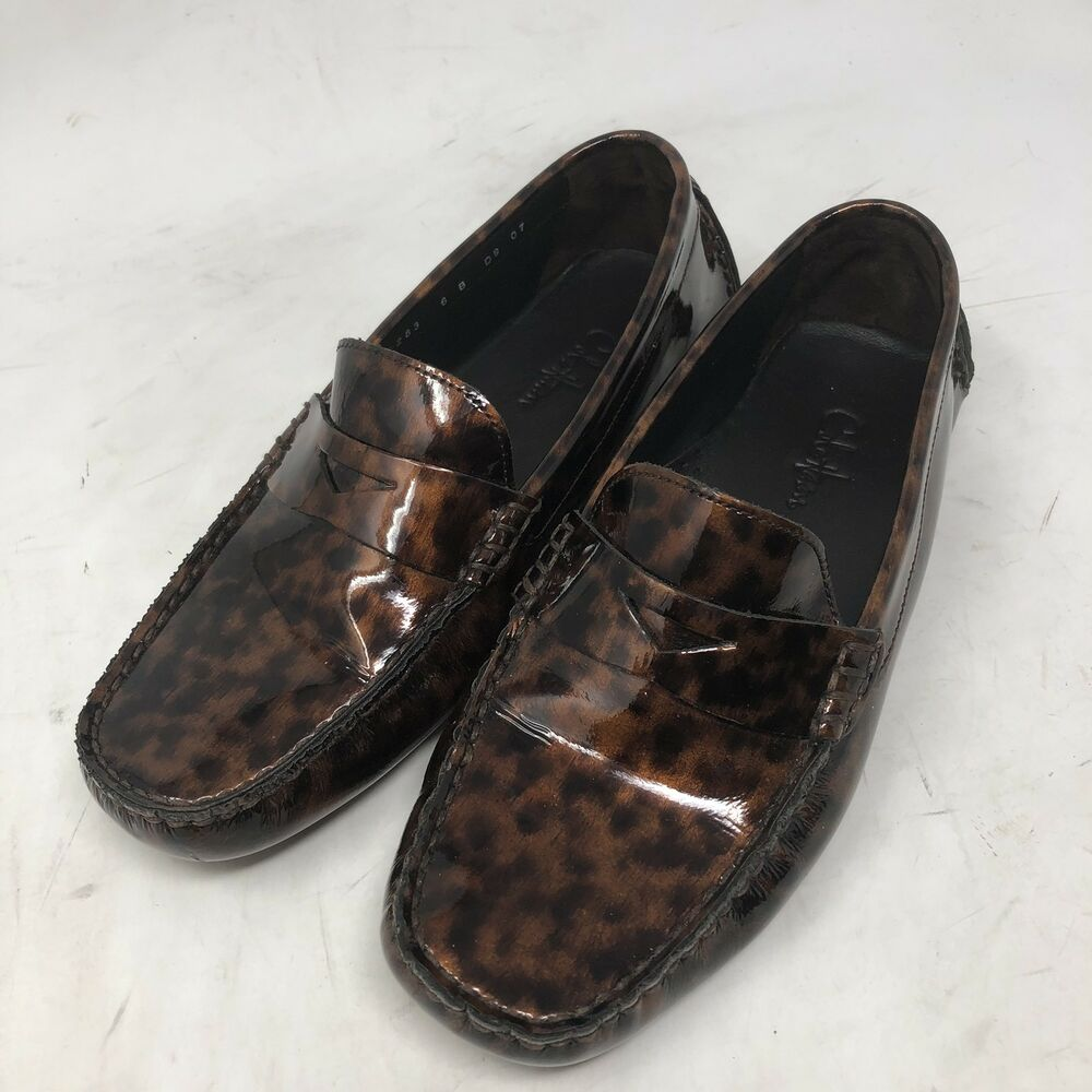 38333f45af5 Details about Cole Haan Patent Leather Brown Penny Driving Moc Loafers  Shoes Women s 6 B
