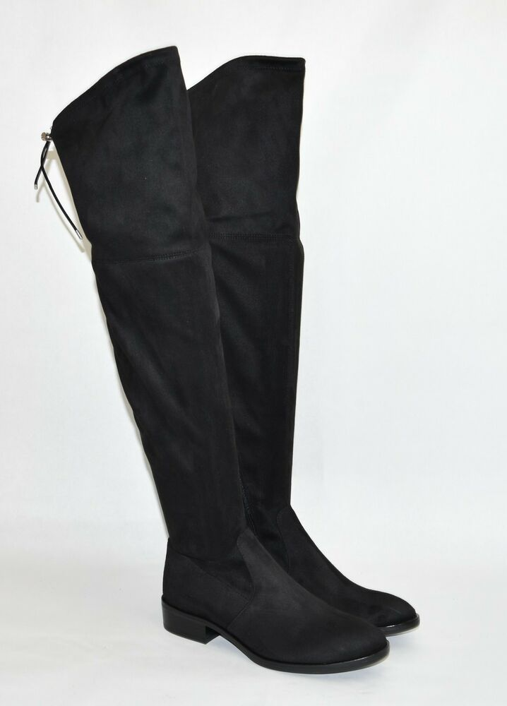 New Sam Edelman Womens Black Over The Knee Paloma Boots Soft Black Suede