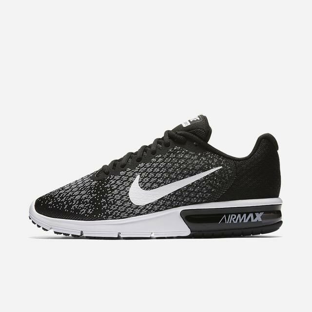 hot sale online 9a696 43b6f Details about Nike Air Max Sequent 2 Black White Grey 852461-005 Mens  Running Shoes NEW!