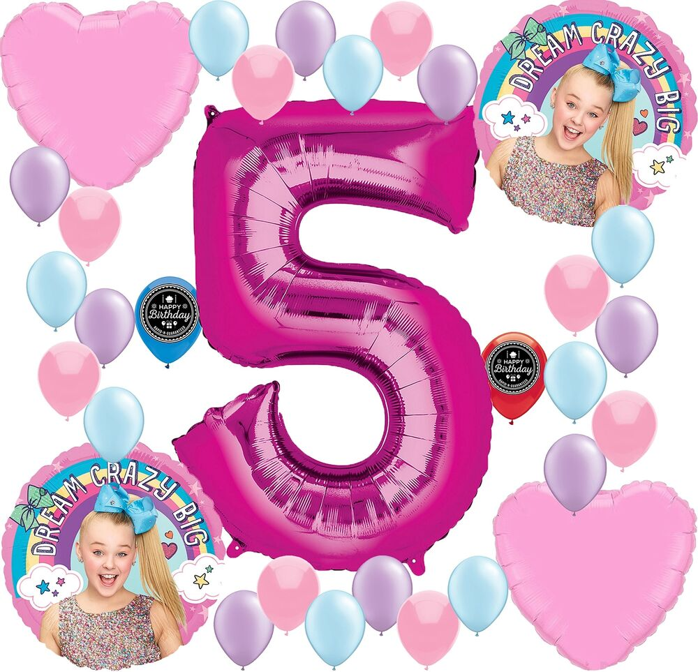989f31b74c1 Details about JOJO SIWA Party Supplies Birthday Balloon Decoration Bundle  For (5th Birthday)