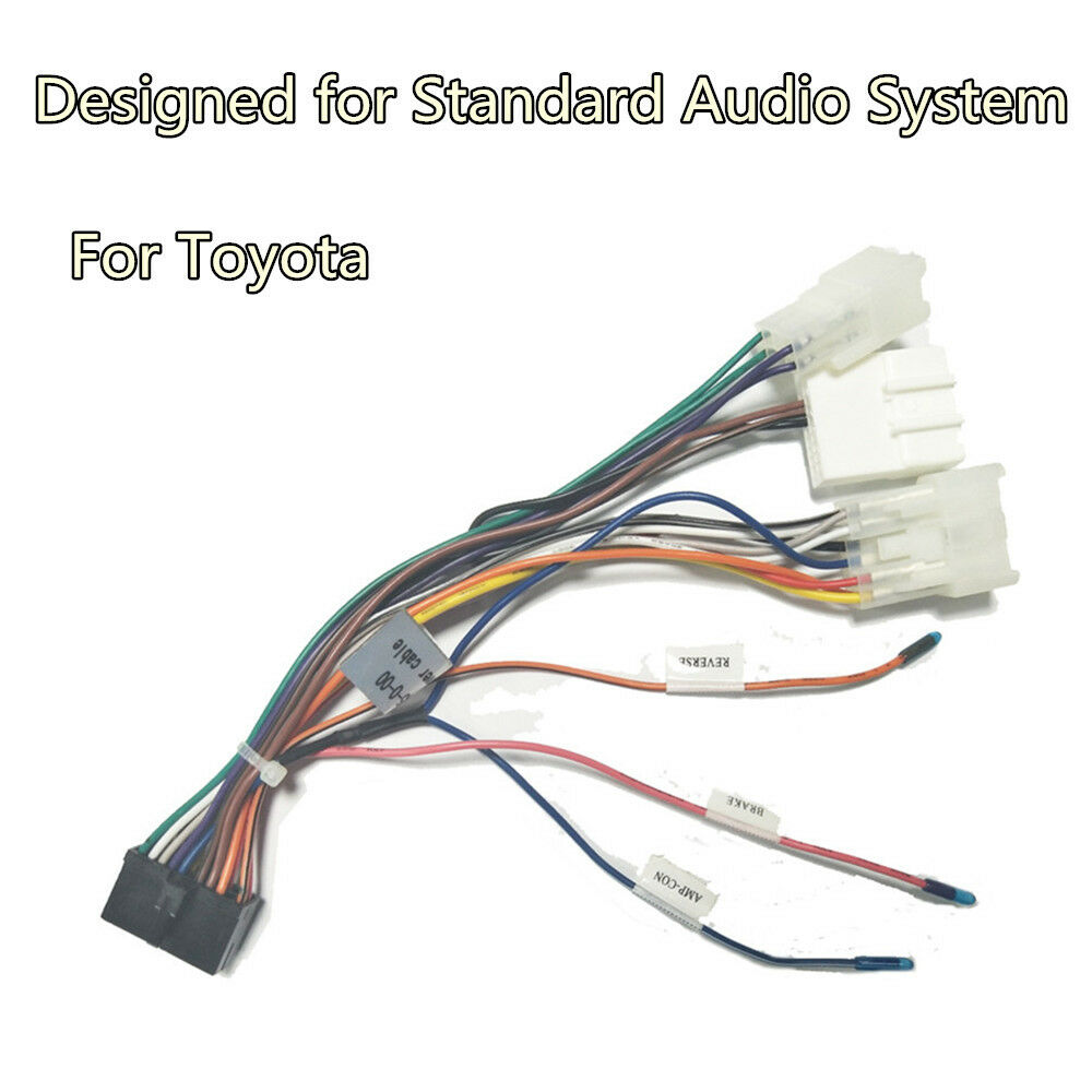 for Toyota Android DVD GPS Multimedia 20 PIN Wiring Harness ... on wiring harness wire, wiring harness covers, wiring harness clips, wiring harness grommets, wiring harness components,