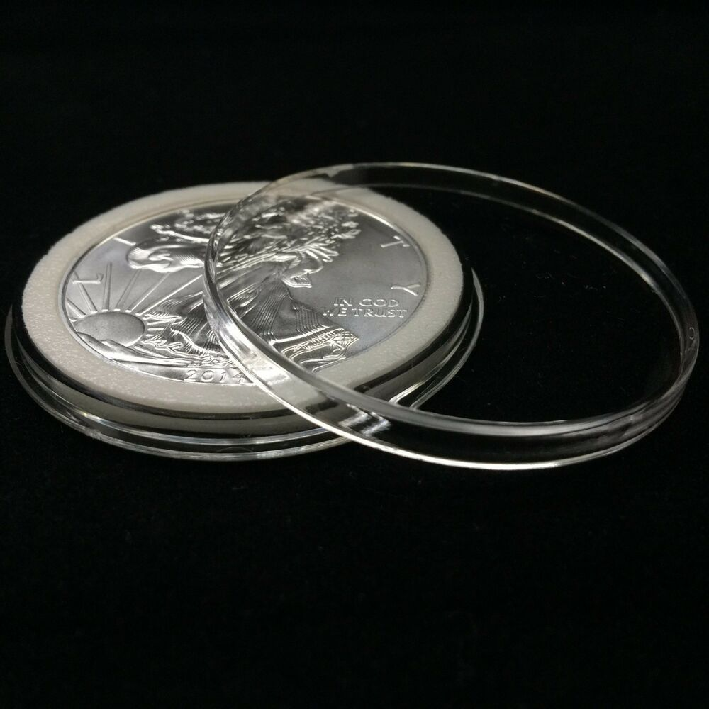 ~250 Direct Fit 40mm Coin Capsule For Mexican 100 Peso 5 Peso Silver