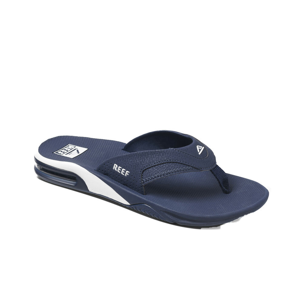 f3128638771e8 REEF MENS FLIP FLOPS.NEW FANNING NAVY ARCH SUPPORT THONGS SANDALS SHOES 9S  6 NAW