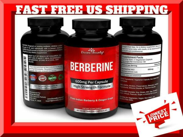 Advanced Berberine with Quercetin 600 mg Increased Absorption Potency 90 Veg Cap