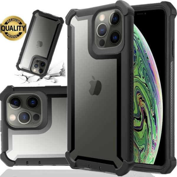 Hybrid Shockproof Heavy Duty Clear Case Fits In iPhone Models