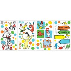 DR. SEUSS DOTS Wall Decals CAT HAT THING 1 2 Room Decor Stickers Fish Decoration