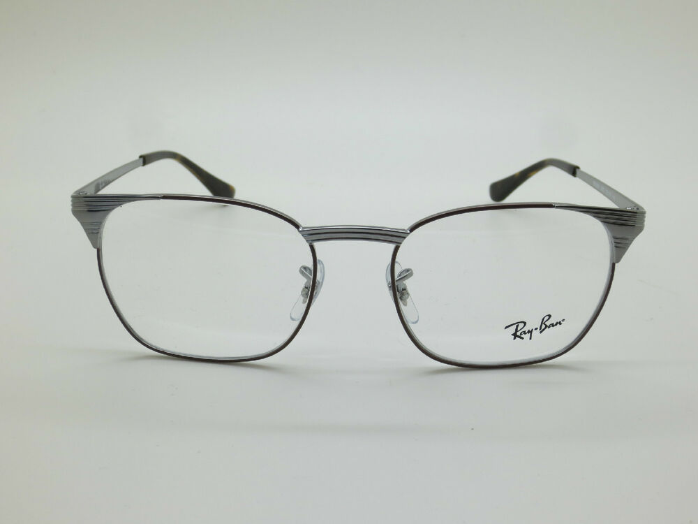 9181d2b446426 Details about NEW Authentic Ray Ban RB 6386 2902 Signet Brown Gunmetal 53mm  RX Eyeglasses