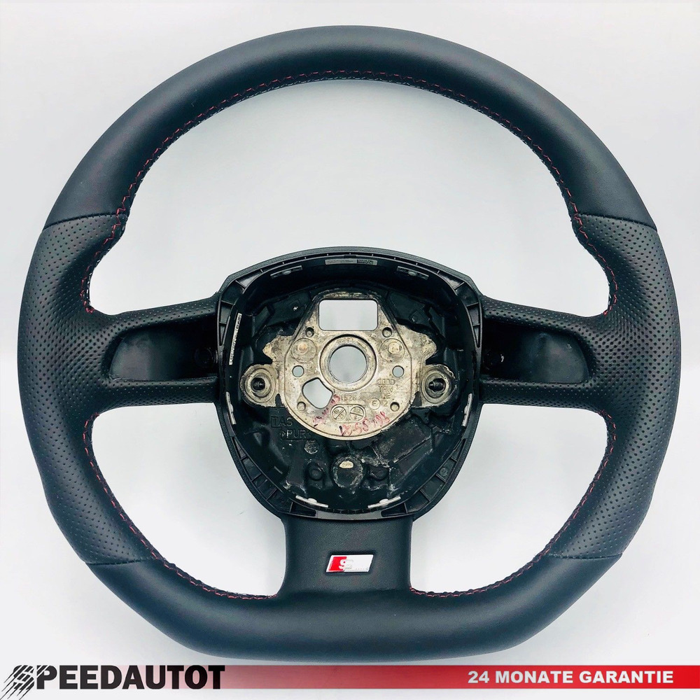 tuning s line flattened leather steering wheel black audi a4 a6 4f0