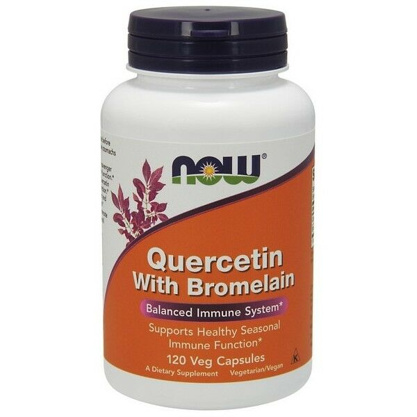 NOW Quercetin with Bromelain 120 Veg Capsules
