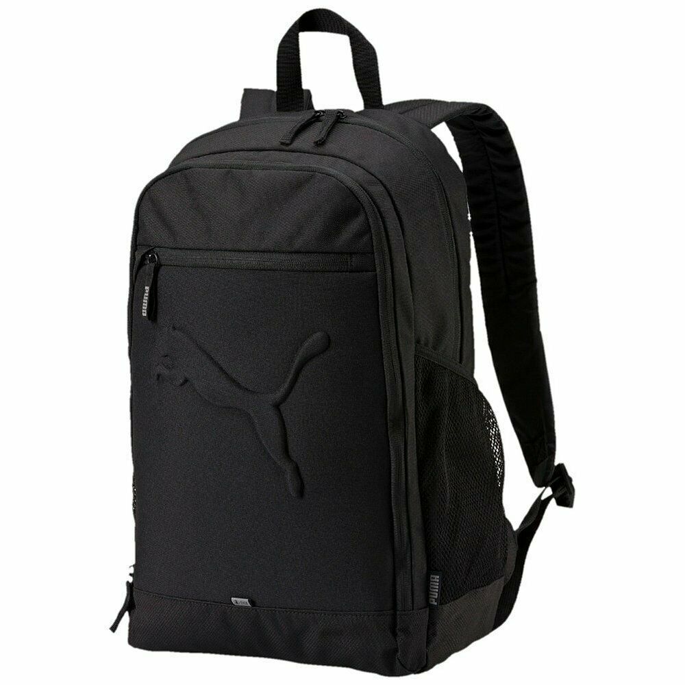 be7456818a Details about Puma Buzz Sports Laptop Backpack Rucksack Bag Black Unisex  Travel