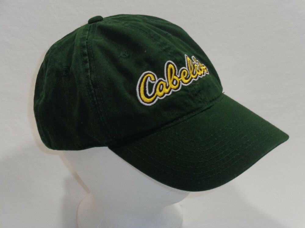 f39a957ac26 Details about Cabela s Green adjustable ball cap hat