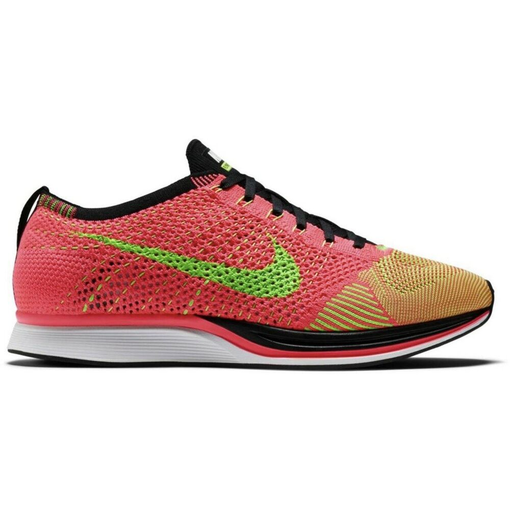 sale retailer c9957 b7afb Details about 🆕 RARE Nike Flyknit Racer, Hyper Punch Electric Green - Size  15 (526628-603)