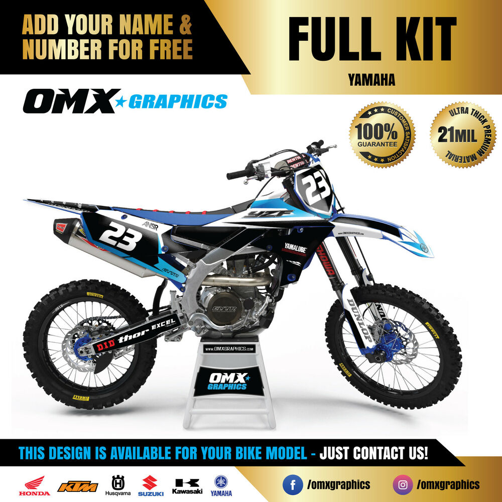 Details about 1989 2019 full yamaha yz yzf fx 125 250 450 mx graphics stickers decals kit lq