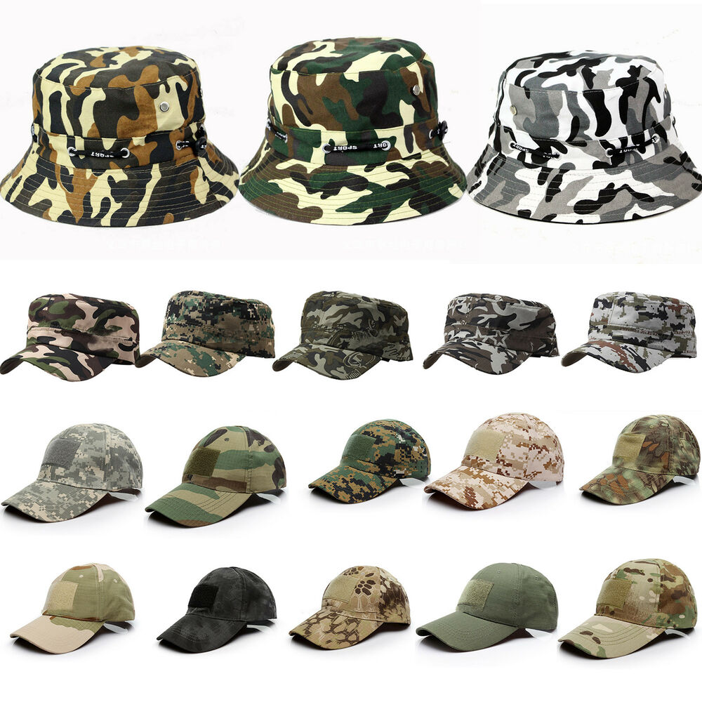 bea9031eb8f Details about Unisex Mens Women Camo Military Army Baseball Cap Adjustable  Hunting Outdoor Hat