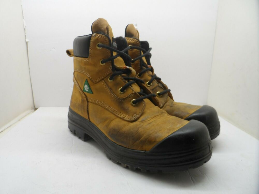 bc408f2bcd9d Details about Aggressor Men s 8   Lynx II Steel Toe Steel Plate Work Boot  Wheat Size 9M