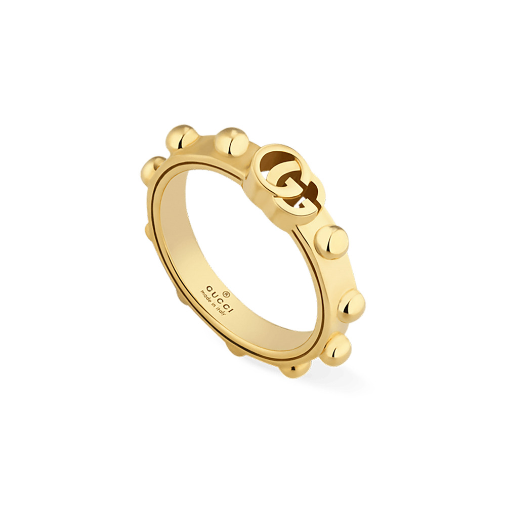 60e024c86a5 Details about RING GUCCI Running G Yellow gold YBC554643001 SIZE N wedding  new warranty