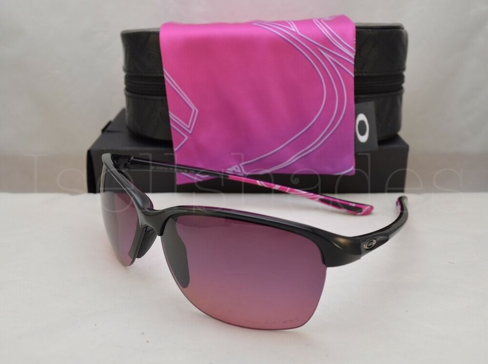 f62613e62a Details about Oakley UNSTOPPABLE (OO9191-10 65) Polished Black with Rose  Gradient Polar Lens