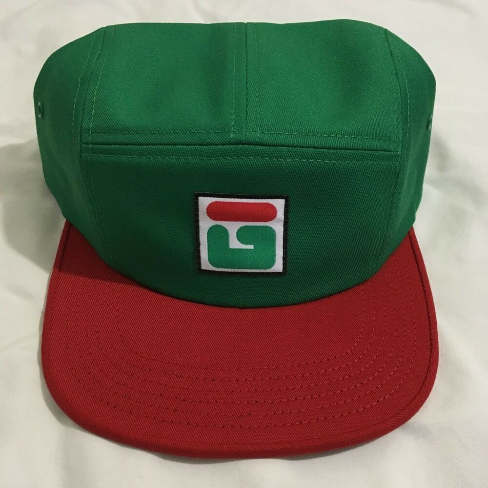 Details about Golf Wang Green Fila Camp Hat 5 Panel Adjustable Strap New 5cbd30c250a