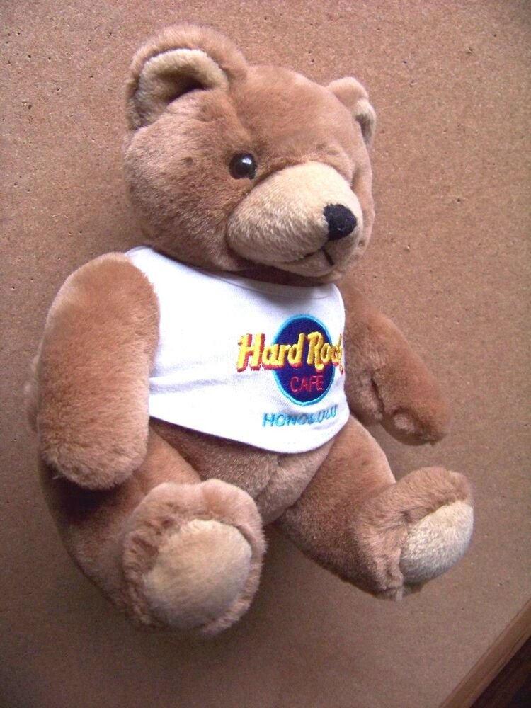 Details about Hard Rock Cafe collectible plush Bear Honolulu 9