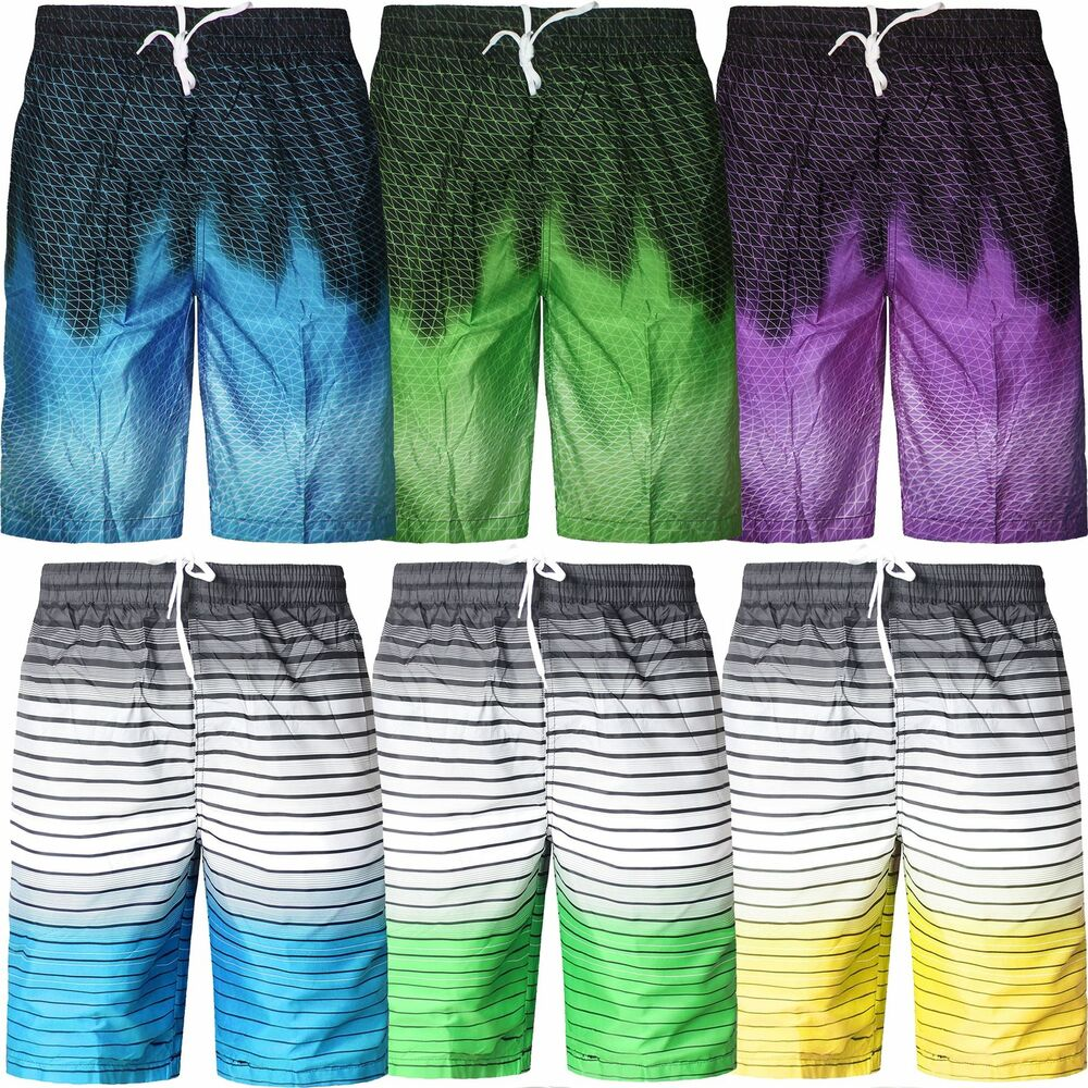 b9bdcc631da0a Details about New Mens Quick Dry Swimming Shorts Printed Mesh Lined Beach  AW19 Summer Trunks