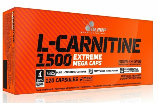 Olimp L-Carnitine Extreme 1500mg fat burner 120-600 caps