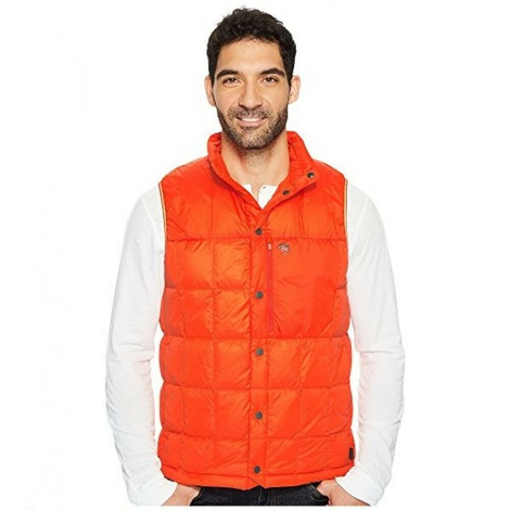b177b5775 New Mountain Hardwear Mens PackDown Vest State Orange XL | eBay