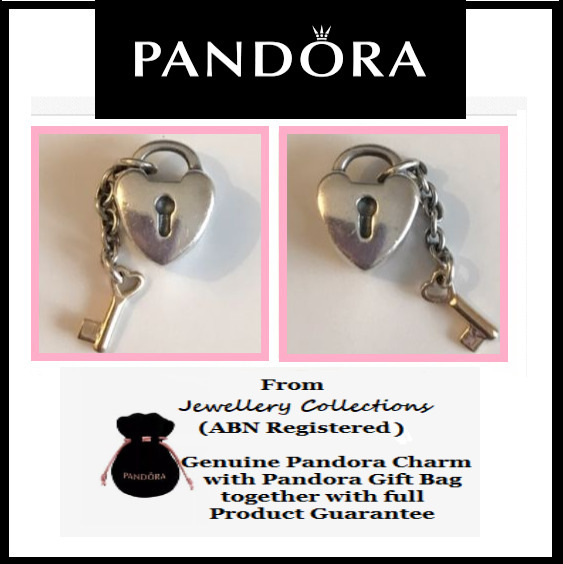 4ccaabeb8 Details about Genuine PANDORA Key to My Heart Charm Two Tone Silver & 14ct  Gold Key 790288