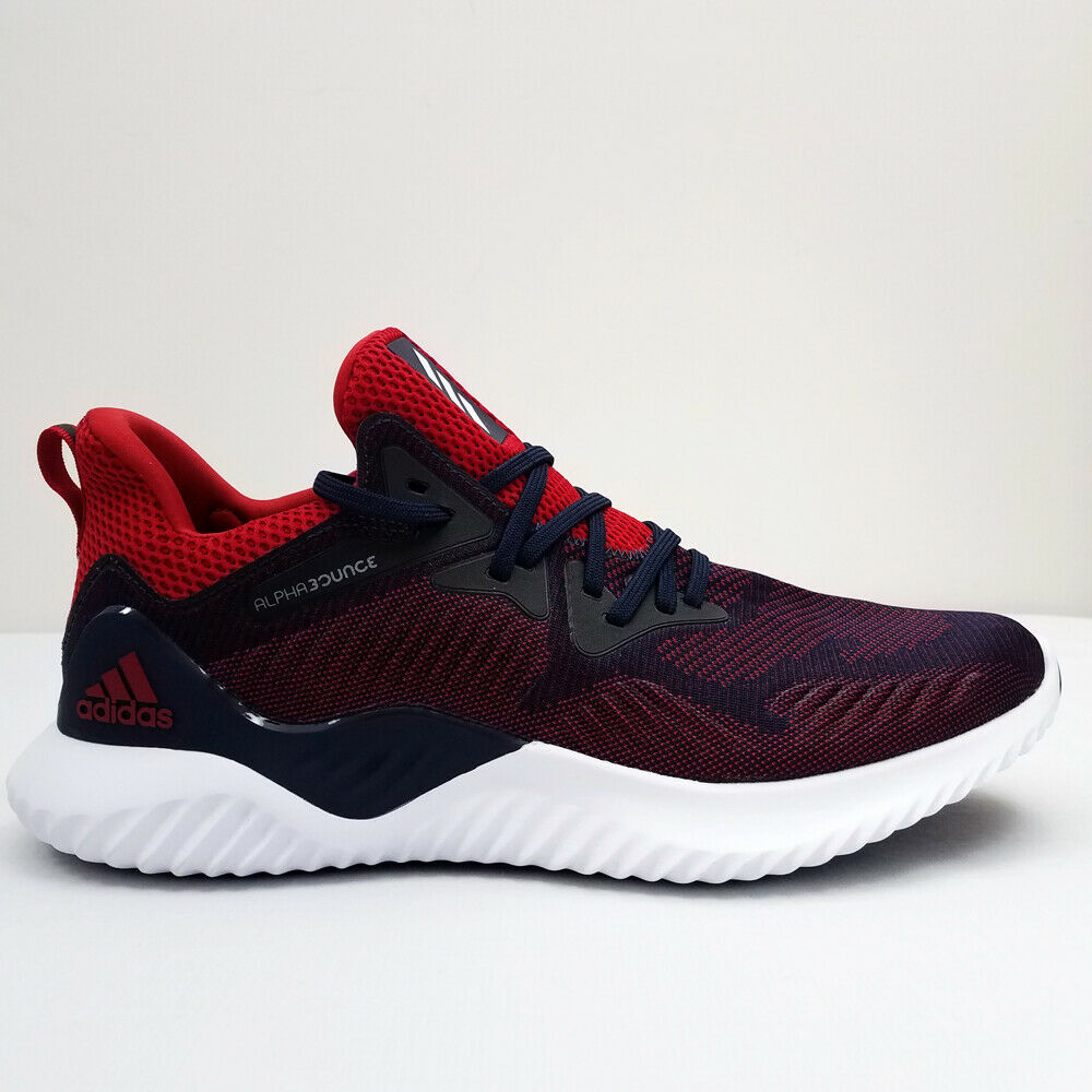 0fec4b585 Details about adidas Alphabounce Beyond NCAA Running Shoes - Mens 11 - Red    Navy Blue   White