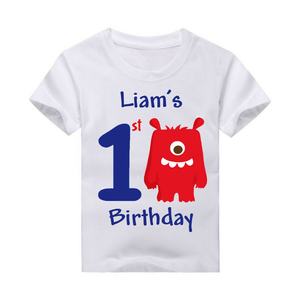 Details About Monster Birthday Shirt